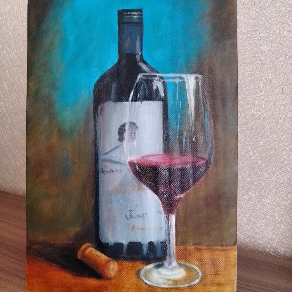 Tatiana Alekseevna Sinyakina. Wine glass