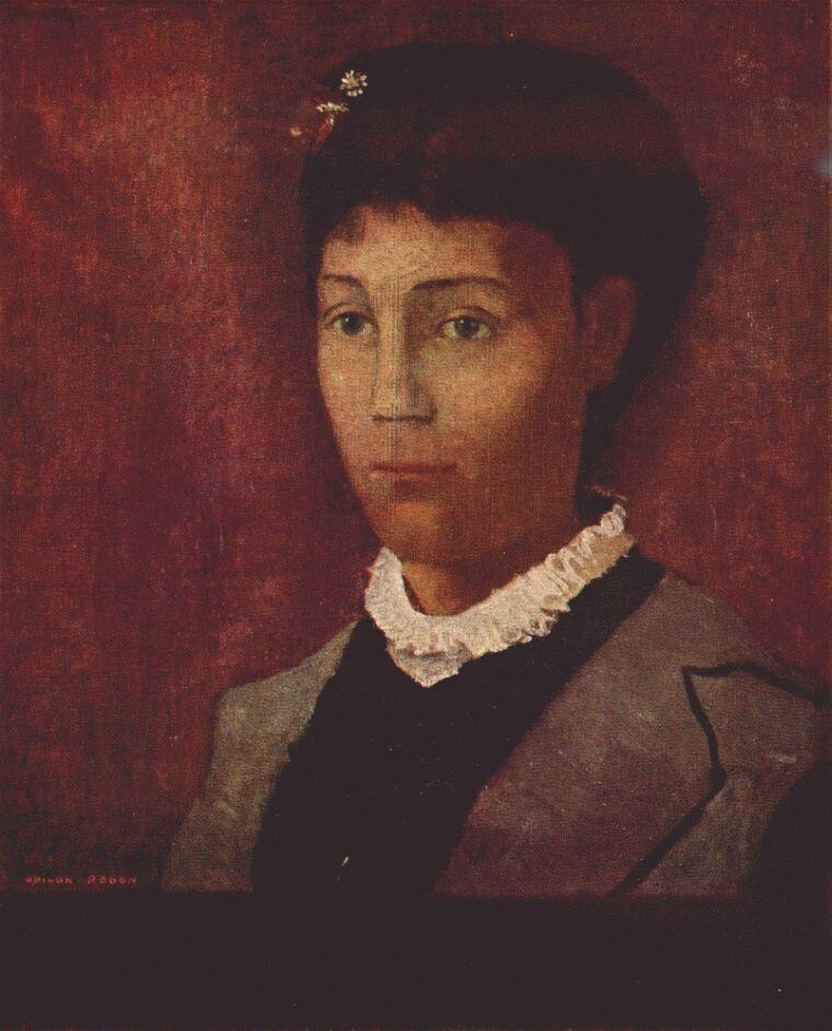 Odilon Redon. Portrait of Madame Redon