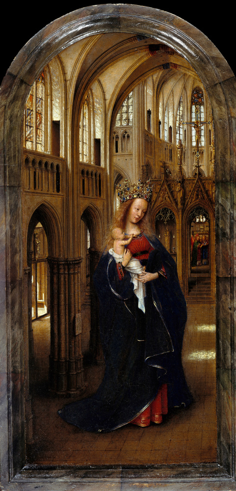 Jan van Eyck. Madonna in the Church