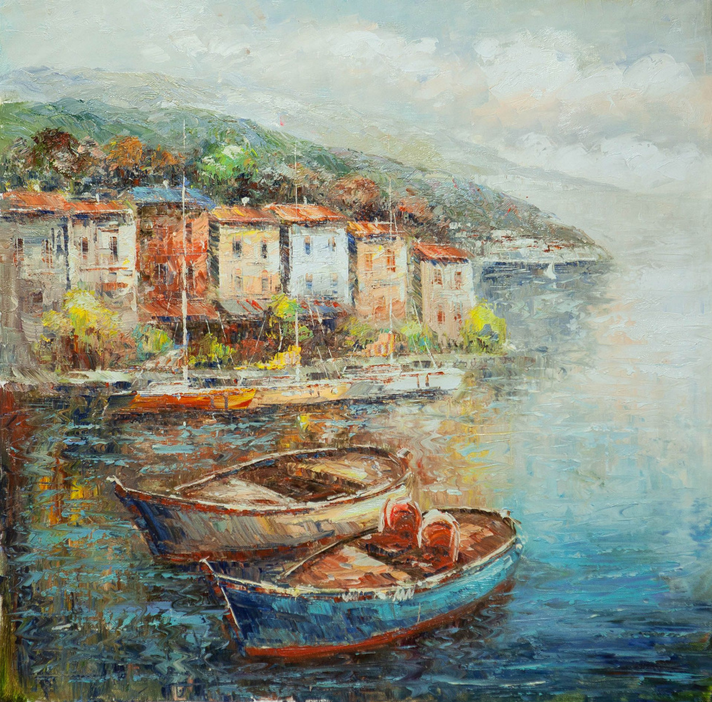 (no name). Boats at the Ligurian embankment N2