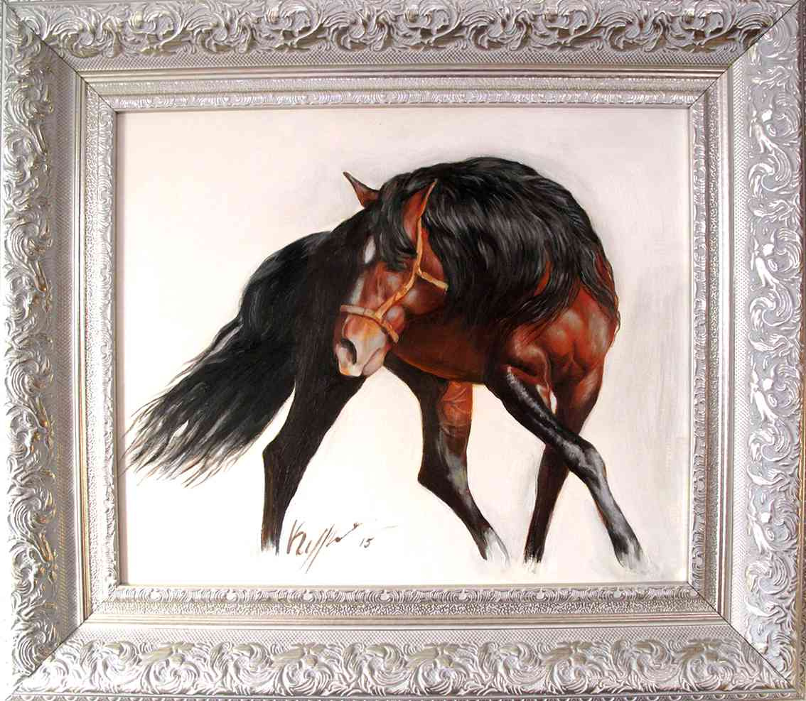 Alexander Pavlovich Kurganov. Dancing horse