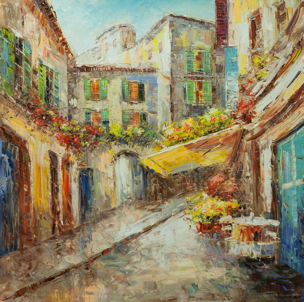 (no name). On an italian street for a siesta