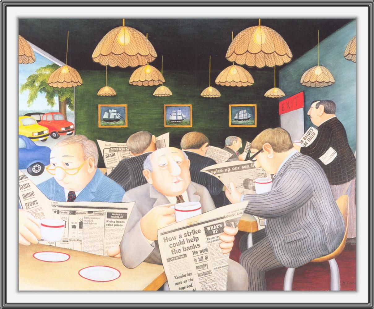 Beryl Cook. Cafe freeway