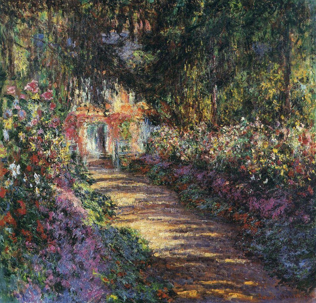 Claude Monet. The path through the garden at Giverny
