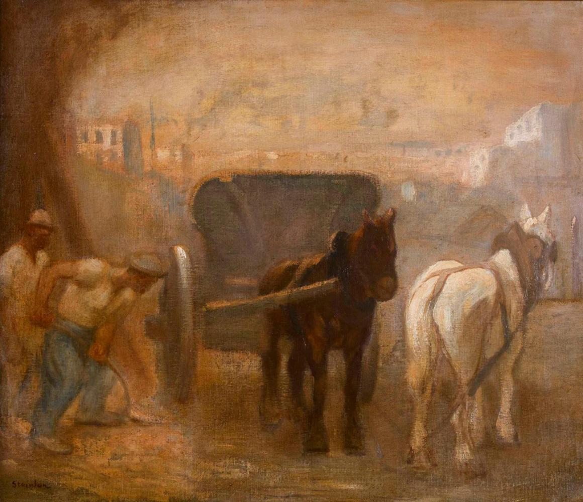 Theophile-Alexander Steinlen. Stuck carriage