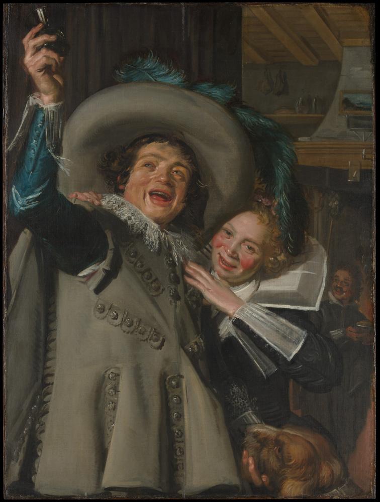 Франс Хальс. Молодой мужчина и женщина в гостинице (Юнкер Рамп и его возлюбленная)