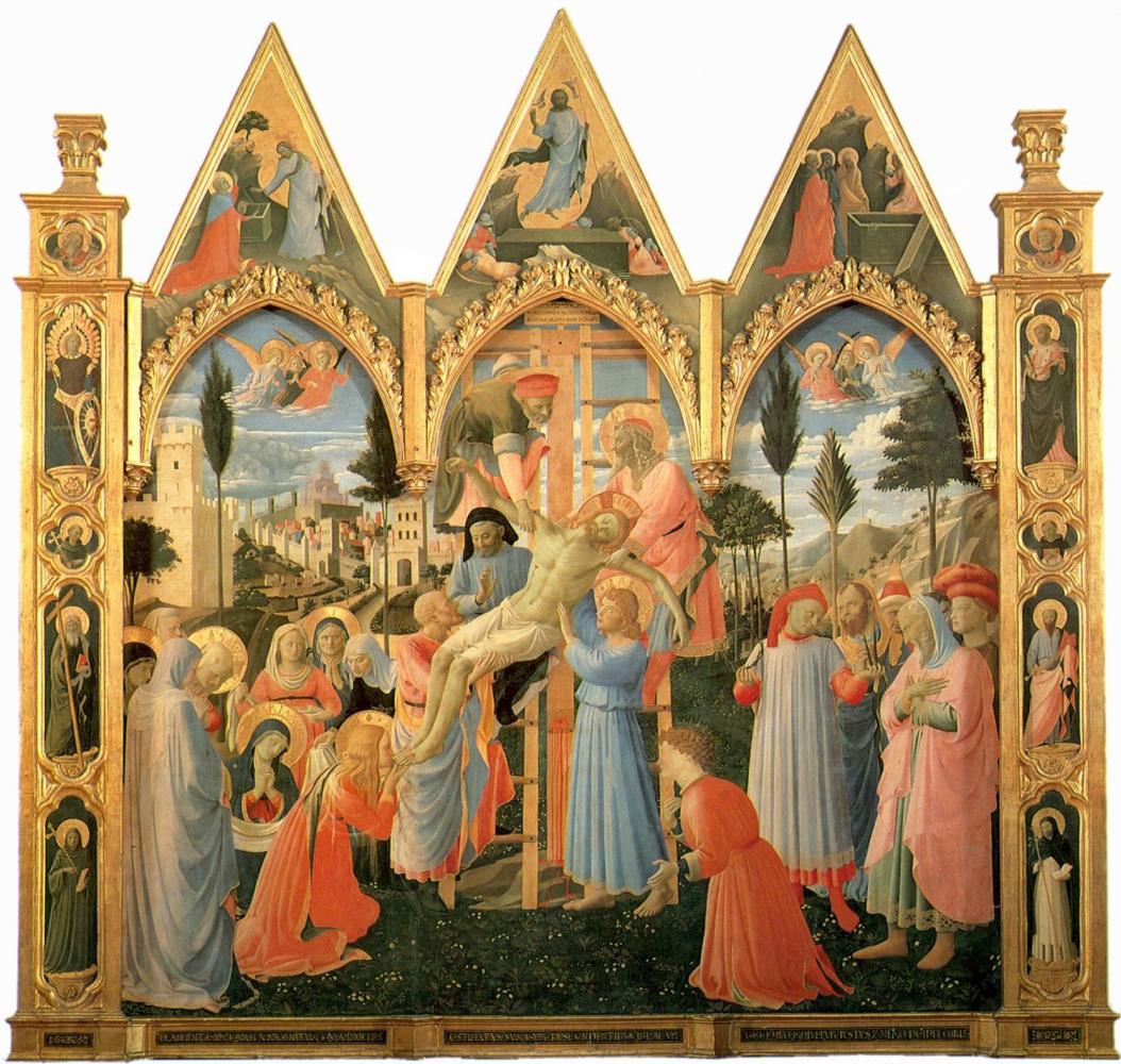 Фра Беато Анджелико. Снятие с креста. Алтарь церкви Святой Троицы, Сан Марко, Флоренция