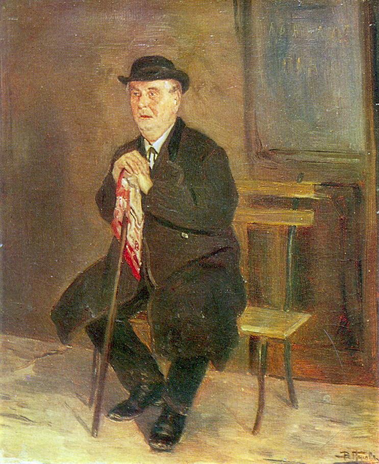 Василий Григорьевич Перов. Старик на скамейке