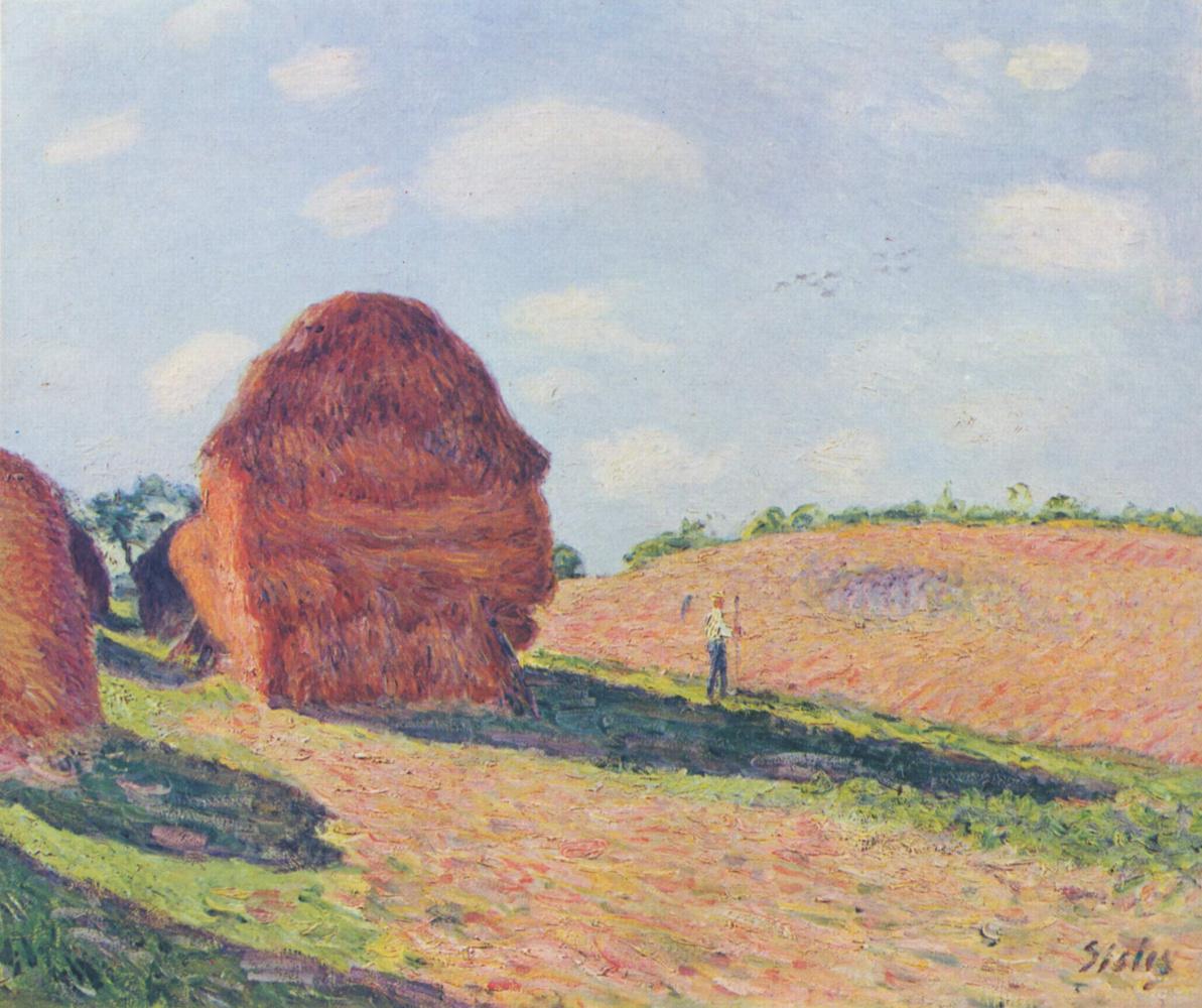 Alfred Sisley. Haystacks