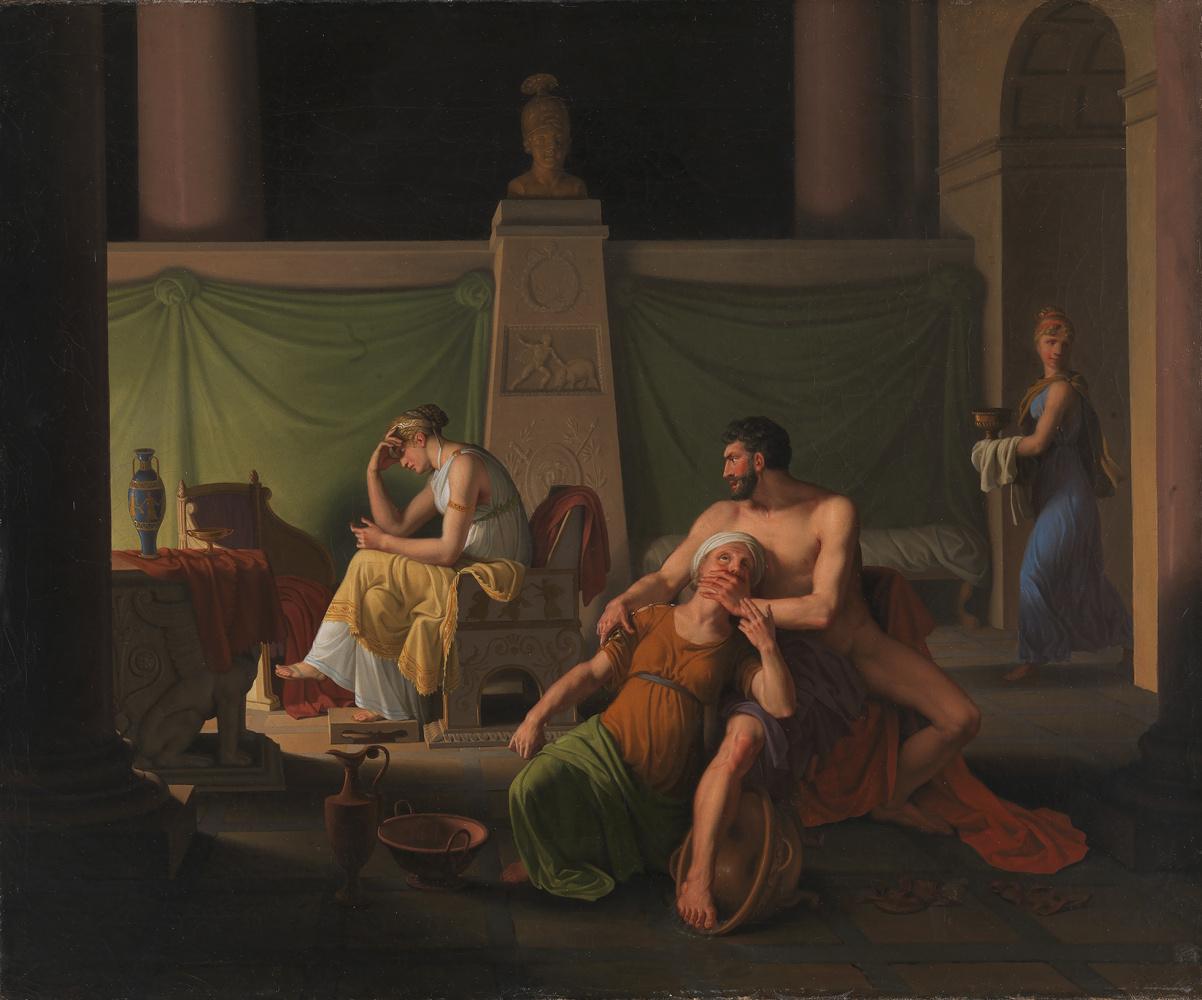 "Christopher Wilhelm Eckersberg. Return of Odysseus. Scene from ""Ulysses"" by Homer"