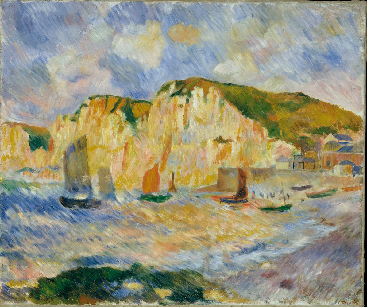 Pierre-Auguste Renoir. The sea and the cliffs