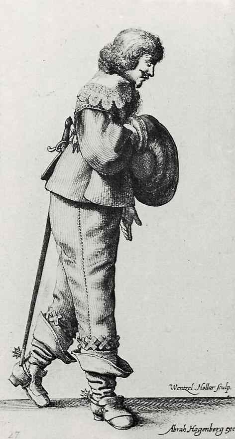 Венцель Холлар. Стоящий, приветствующий кавалер