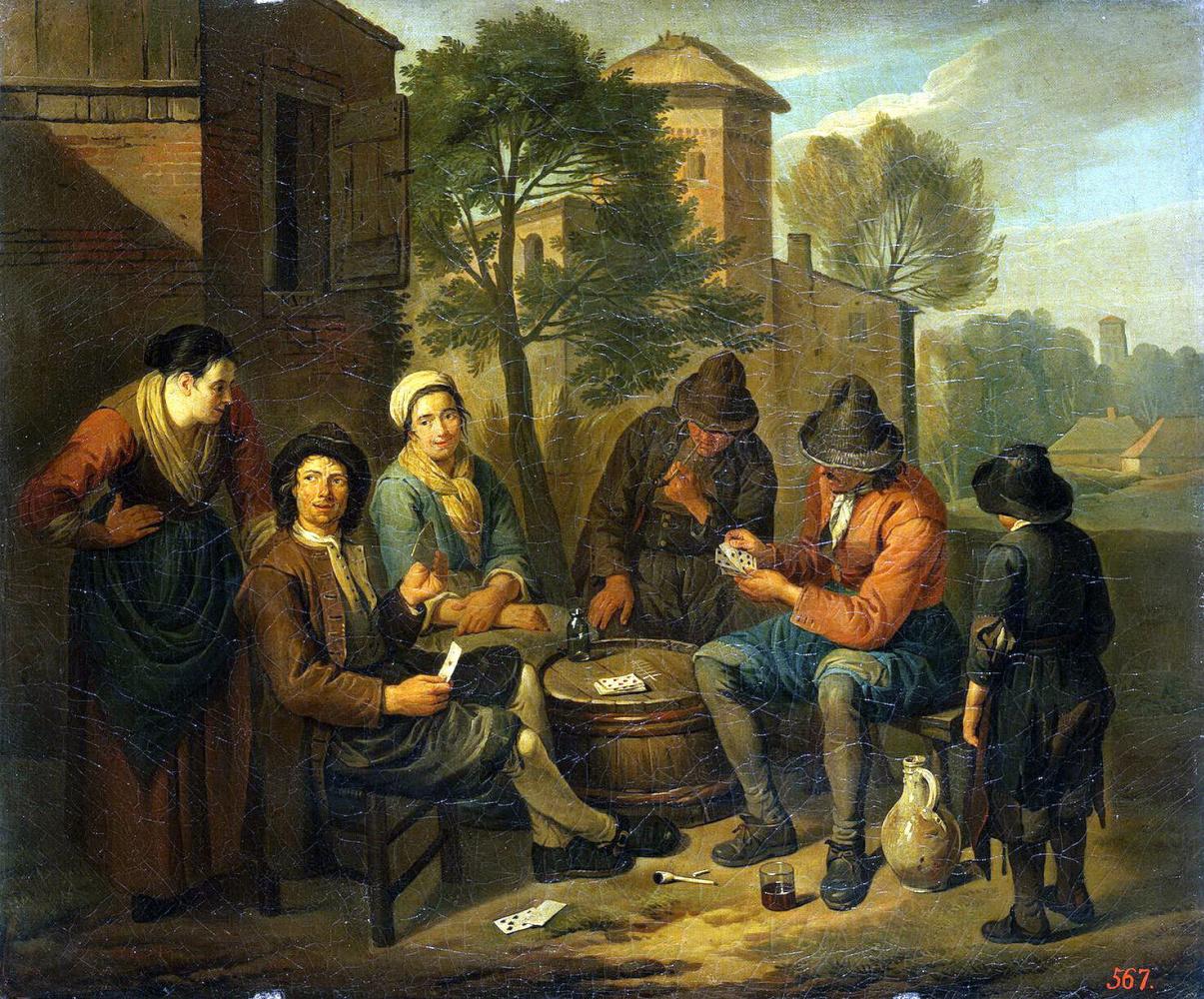 Норберт ван Блумен. Крестьяне, играющие в карты