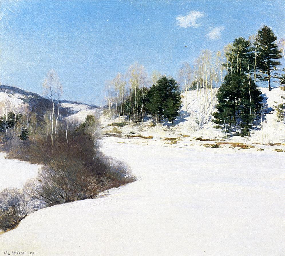 Willard Leroy Metcalfe. Winter road