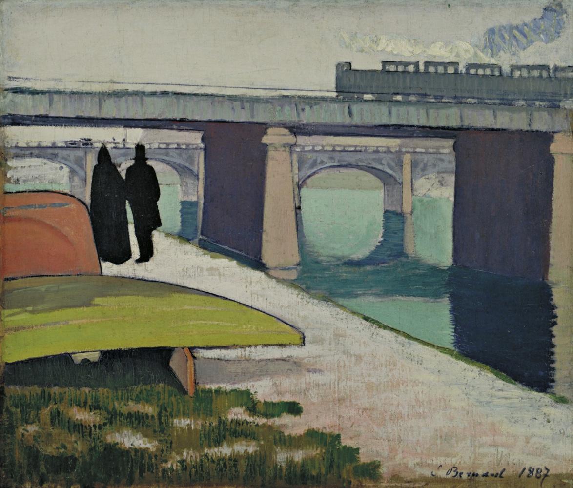 Emil Bernard. Railway bridges in Arnier