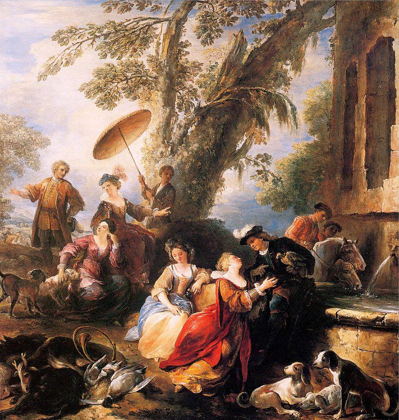 Иосиф Паппокел. В саду