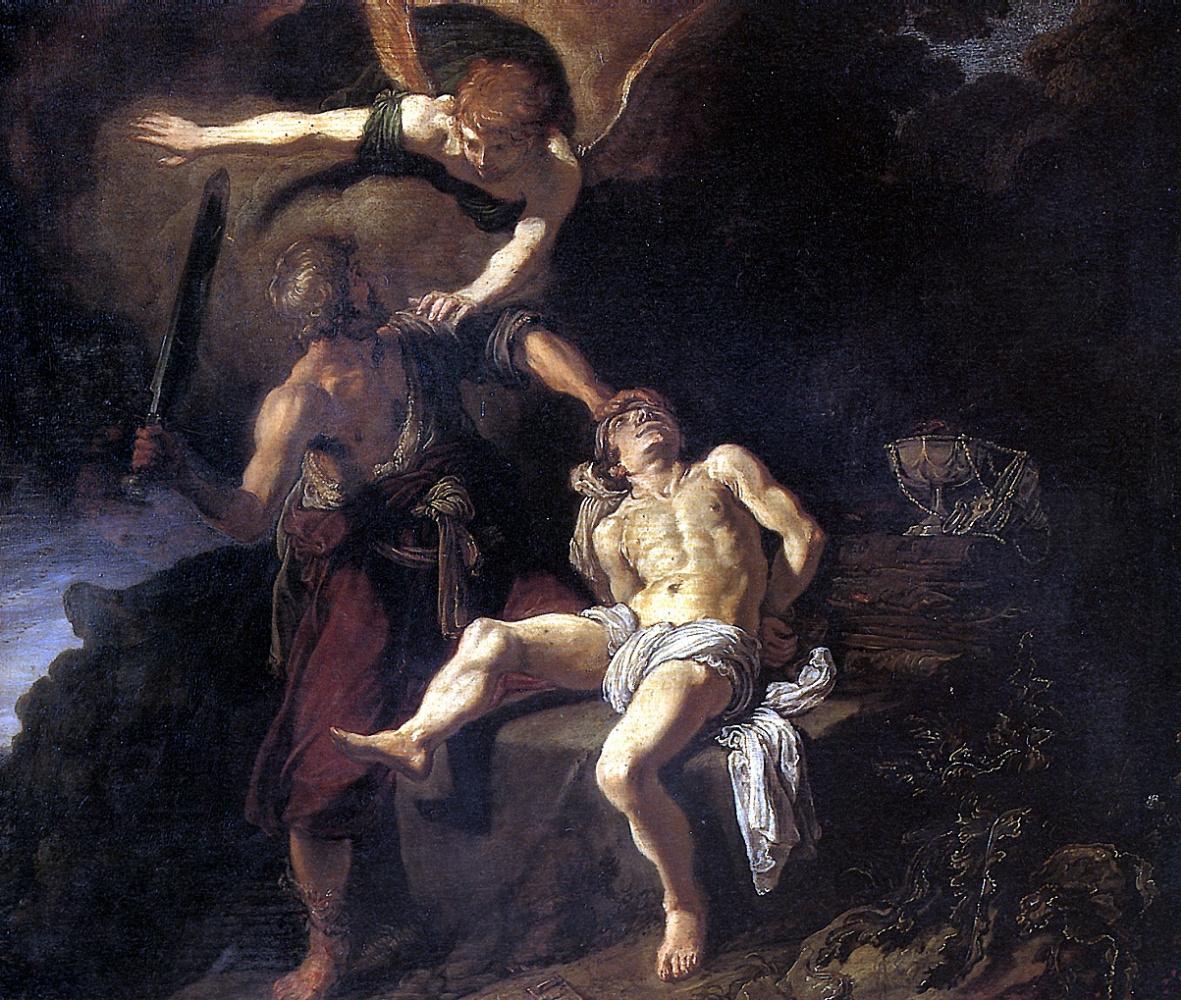 Питер Питерс Ластман. Жертвоприношение Авраама