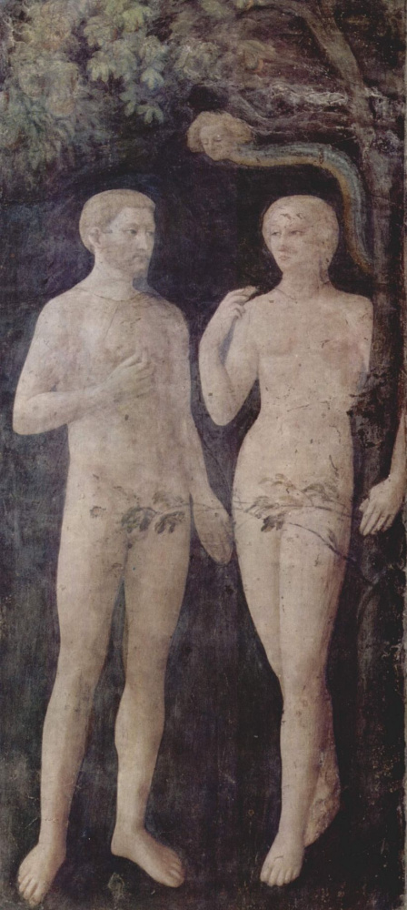 Искушение Адама и Евы. Капелла Бранкаччи в Санта Мария дель Кармине во Флоренции
