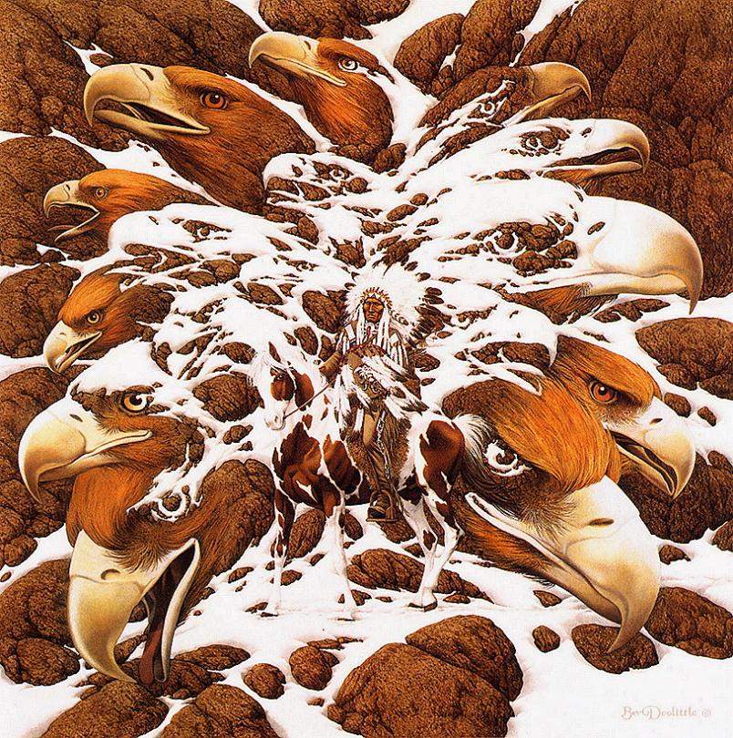 Bev Doolittle. A lot of eagles