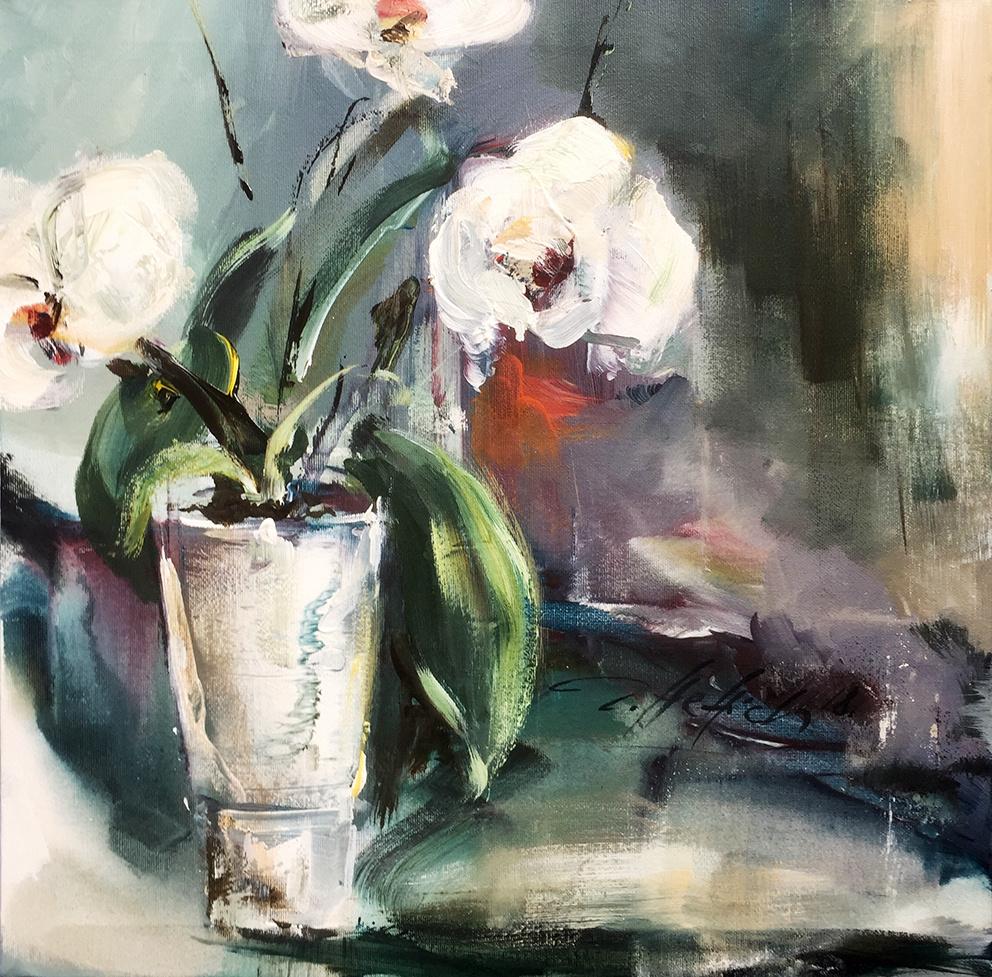 Robert Hettich. Натюрморт с орхидеями
