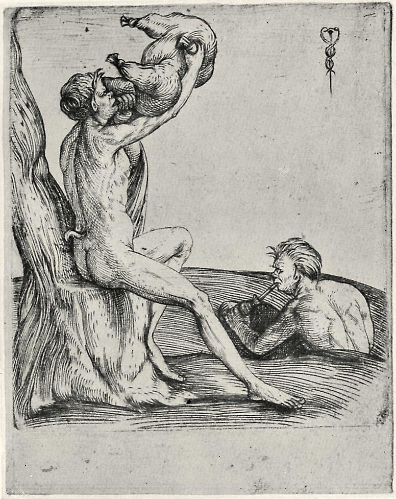 Jacopo de Barbary. Satyr with wineskin