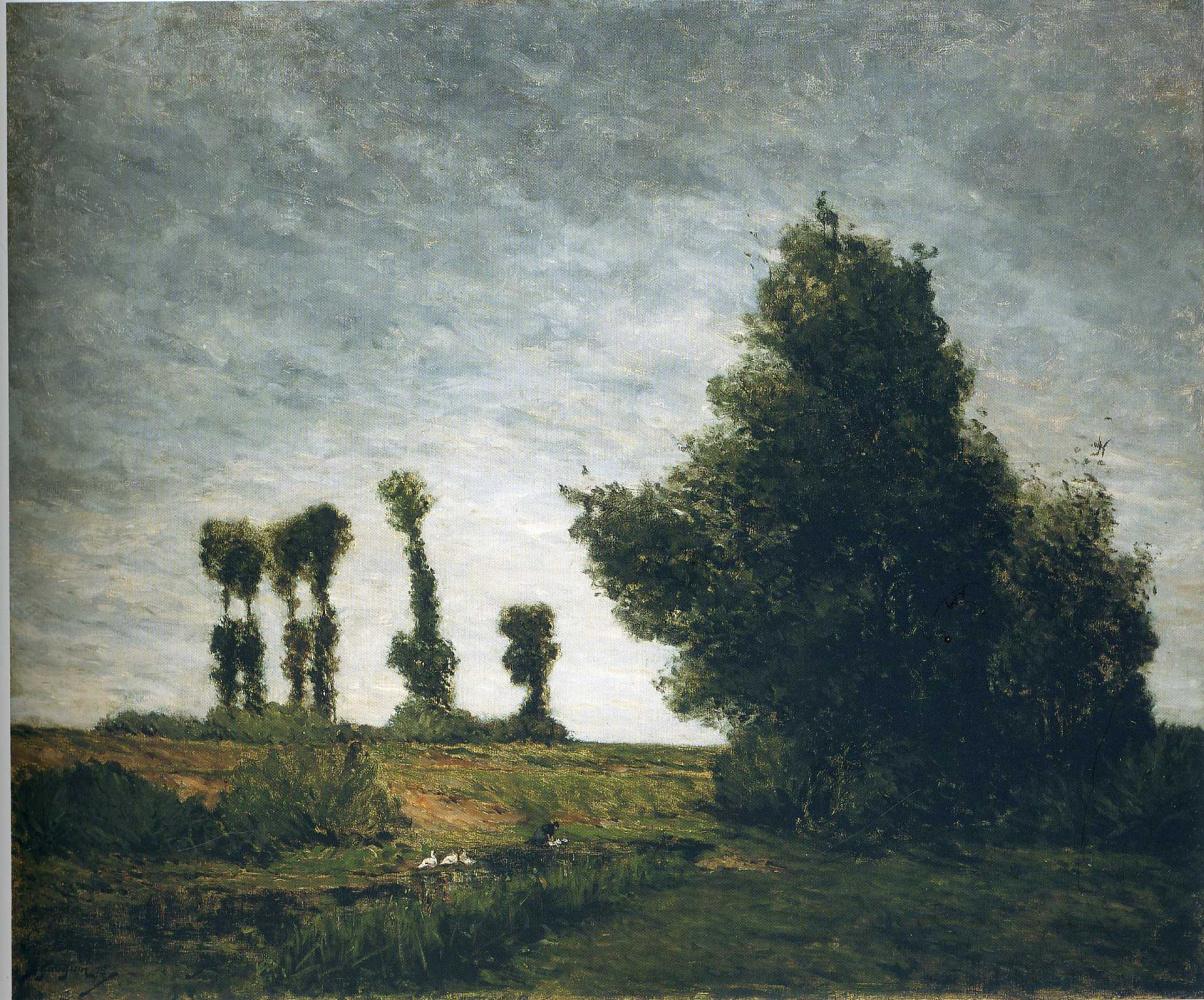 Paul Gauguin. Landscape with poplars
