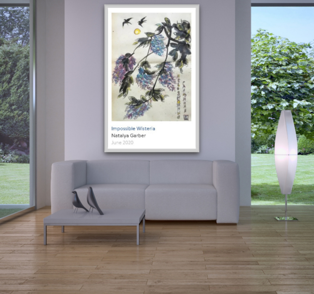 Natalya Garber. Impossible wisterias. Work for a country house or VIP gallery