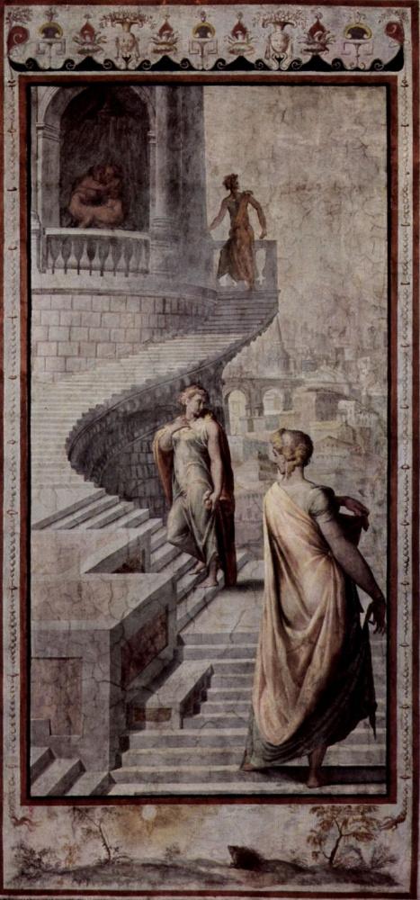 Francesco Salviati. Bathsheba goes to David