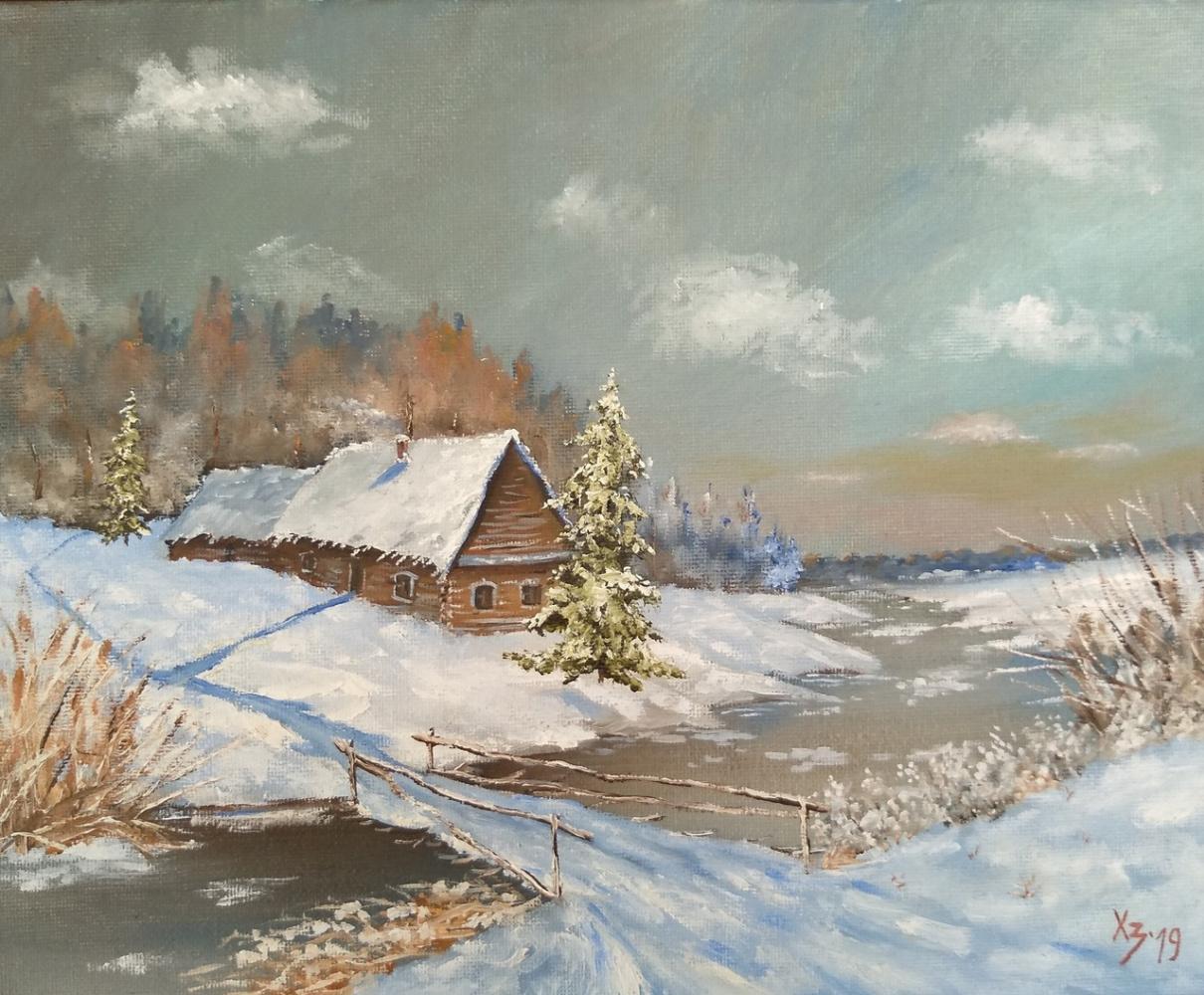 Сергей Николаевич Ходоренко-Затонский. Winter landscape-3