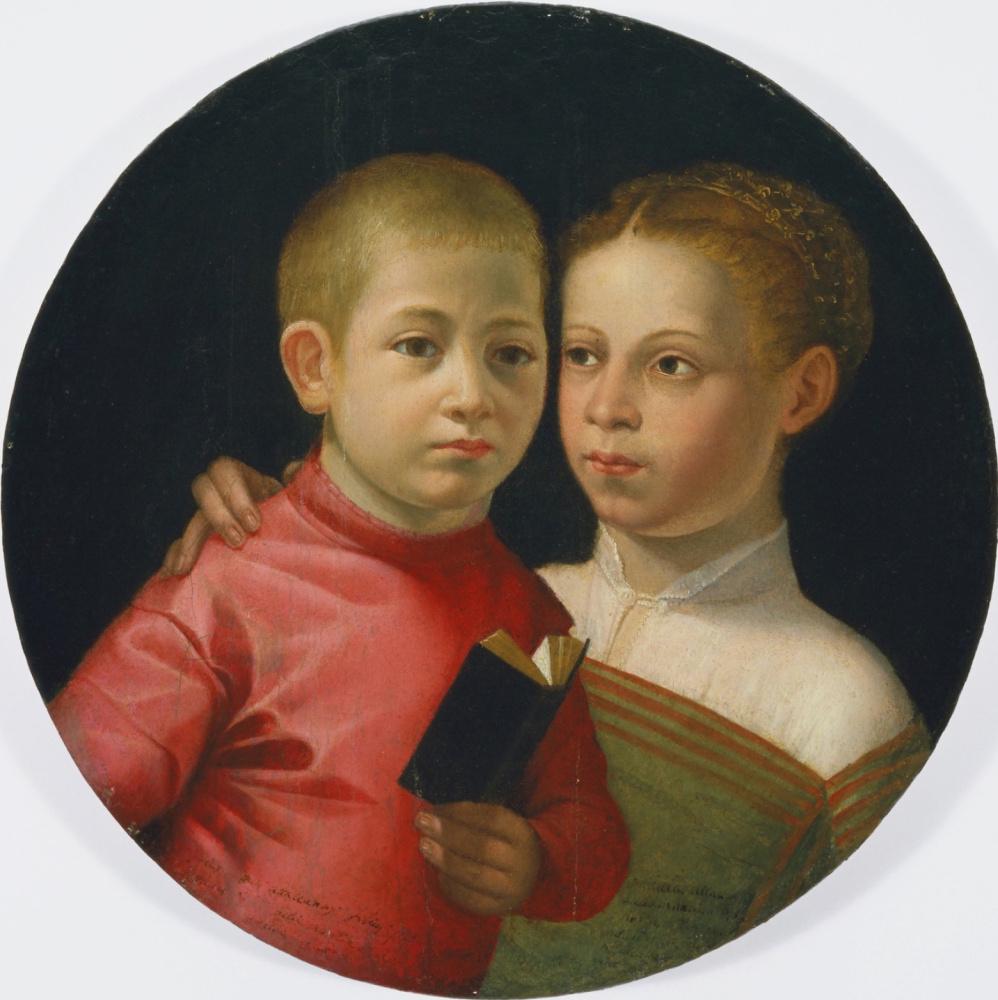 Софонисба Ангвиссола. Двойной портрет мальчика и девочки из семьи Аттаванти