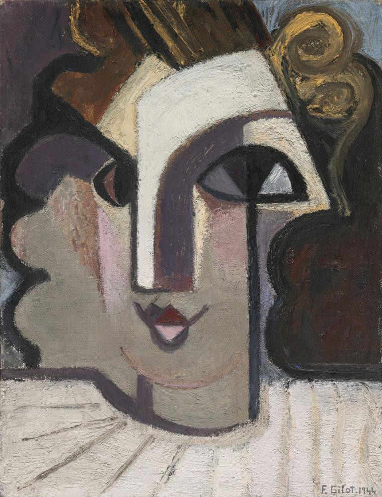 Франсуаза Жило. Портрет Женевьевы в белом