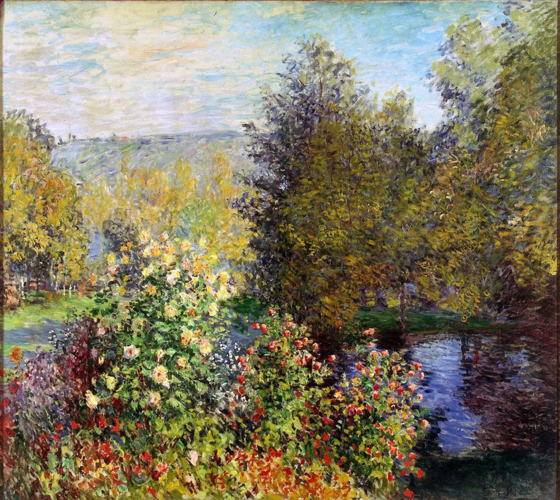 Claude Monet. Corner of garden in Montgeron