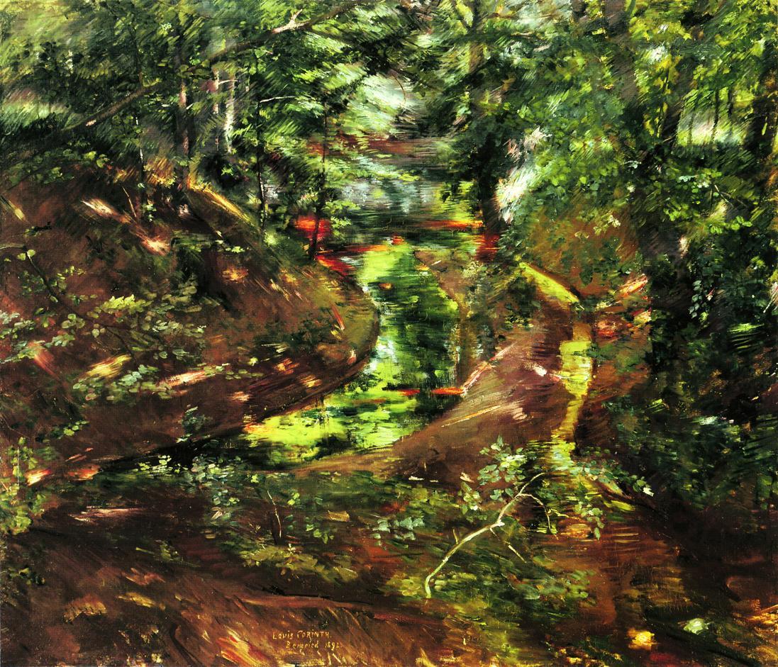 Lovis Corinth. In the woods near Bernried
