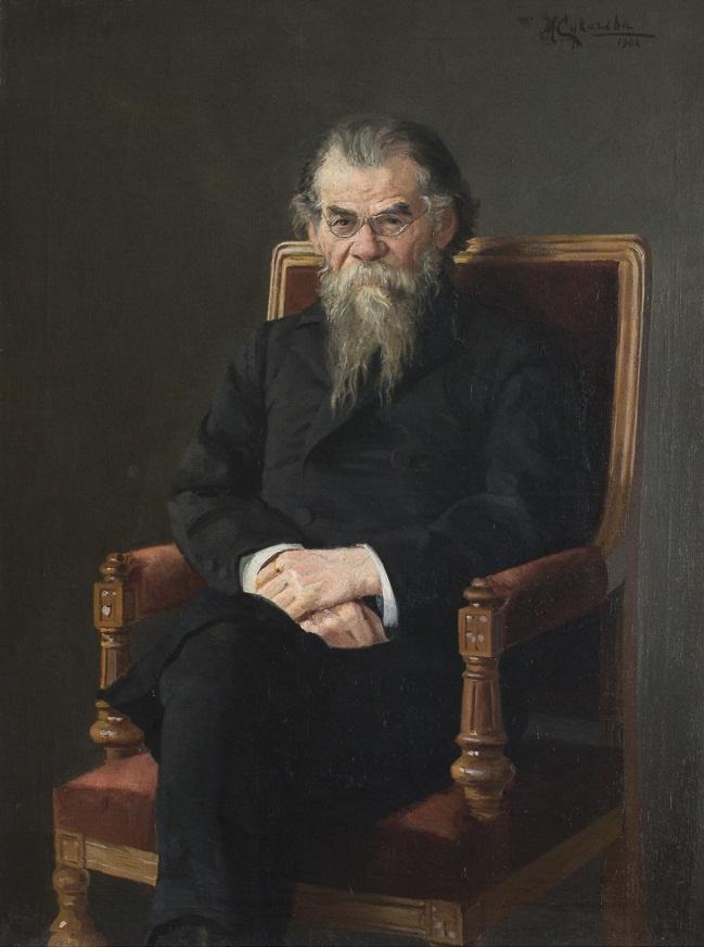 MV Sukacheva. Portrait of GN Potanin