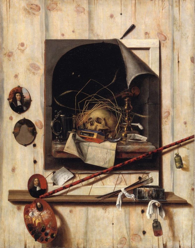 Cornelis Norbertus Gisbrehts. Trompe L'oeil Vanitas