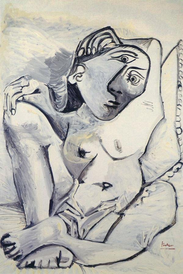 Пабло Пикассо. Женщина на подушке (Жаклин)