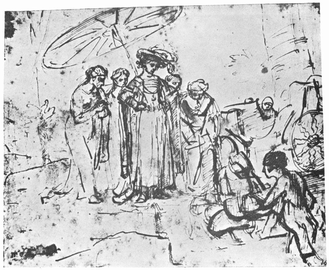 Рембрандт Харменс ван Рейн. Нахождение Моисея