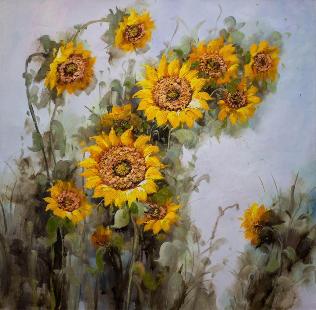 Maria Potapova. Still life with sunflowers N1