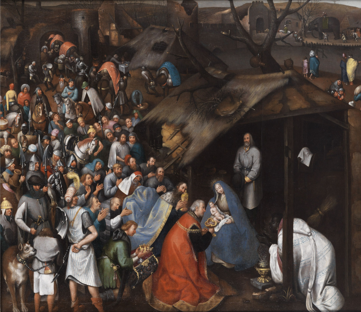 Peter Brueghel the Younger. Worship the baby