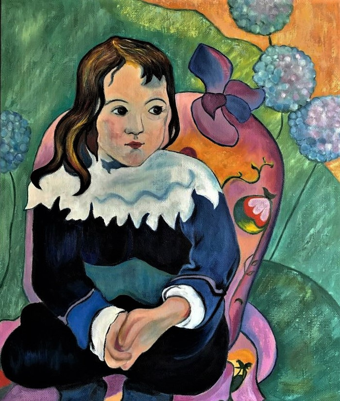 Inga Kotlyarskaya. Free copy of Lulu (Paul Gauguin)