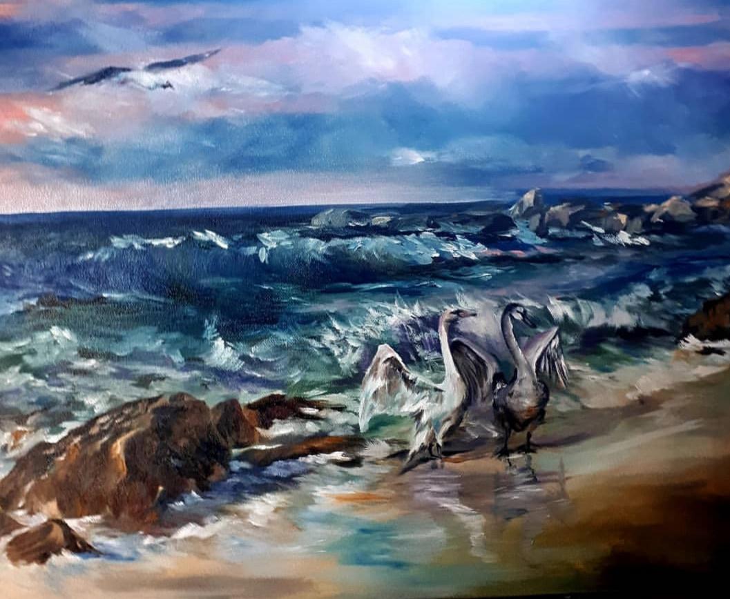 Inna Kitaeva. Swans in the Baltic