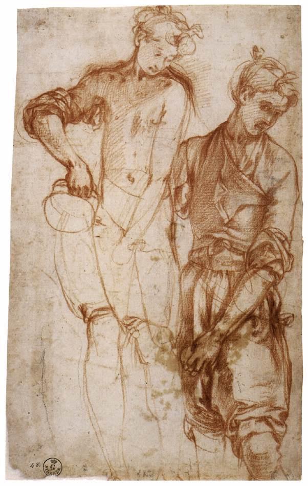 Jacopo Pontormo. Sketch of a female figure
