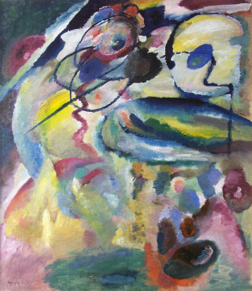 Wassily Kandinsky. Picture with a circle