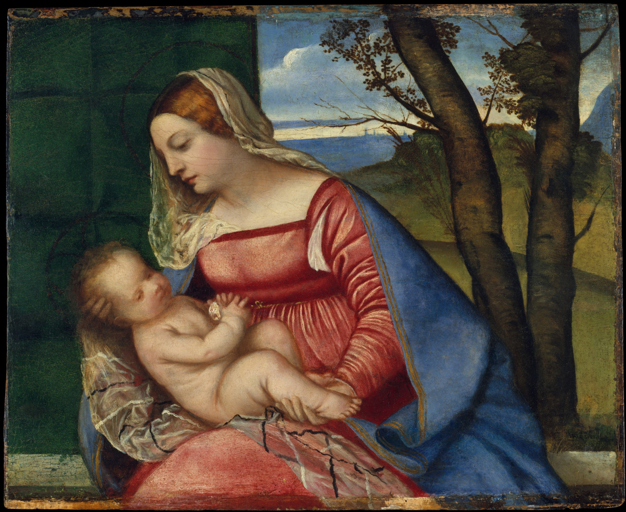 Titian Vecelli. The Madonna and child