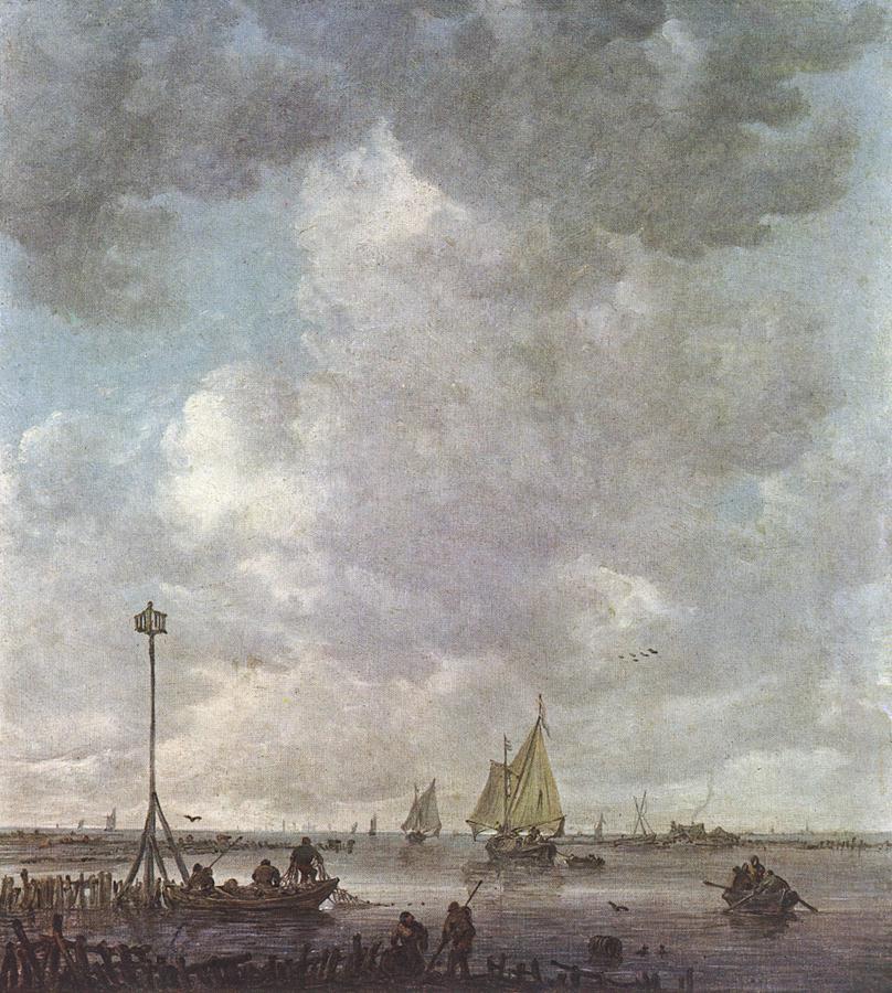 Jan van Goyen. Marine landscape with fishermen