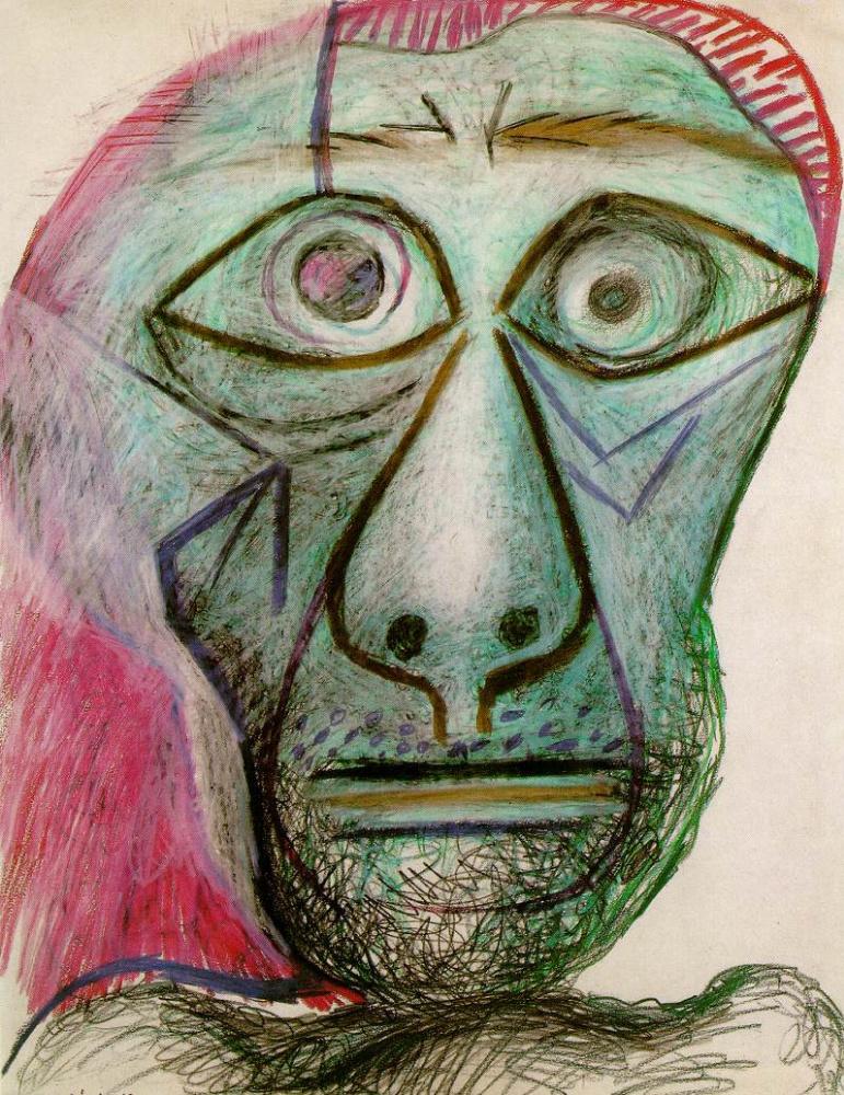 Pablo Picasso. A self-portrait. June 30, 1972