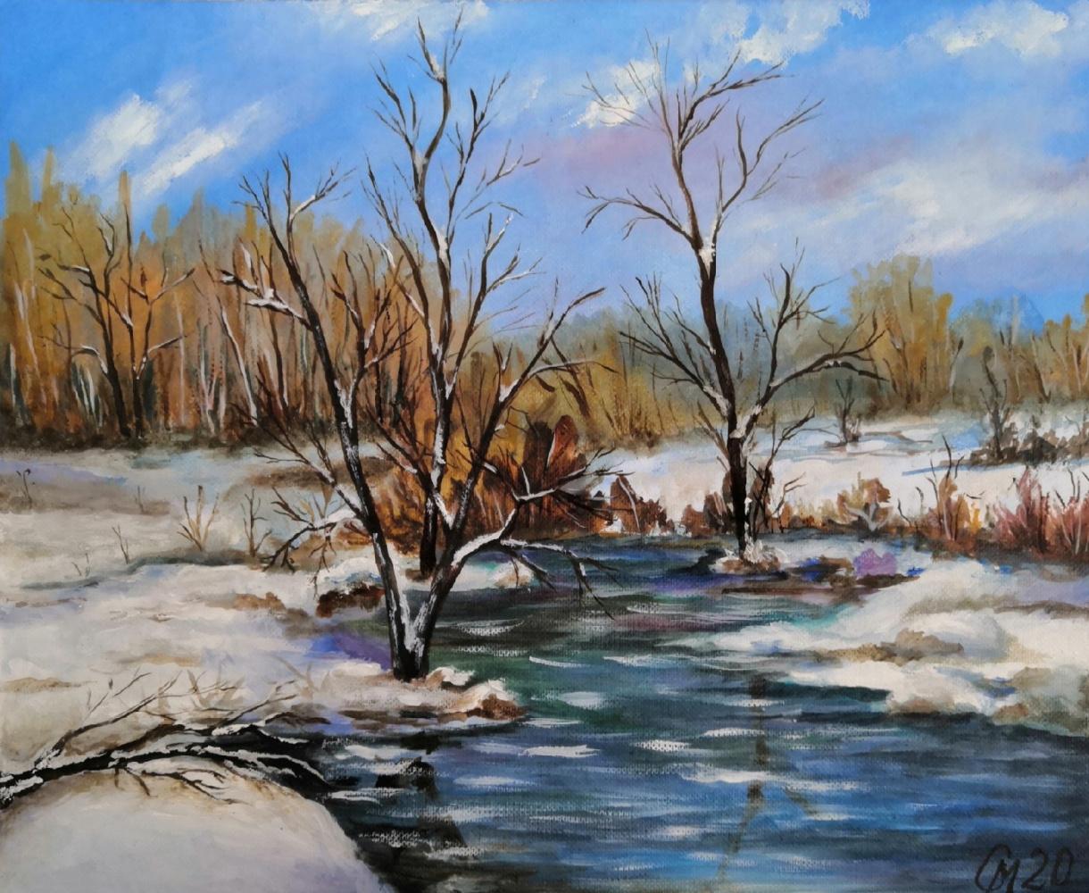 "Мария Евгеньевна Сироткина. Oil painting ""Late Autumn"""