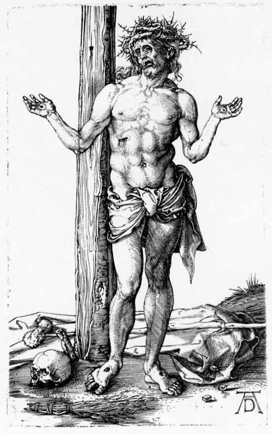 Альбрехт Дюрер. Христос-страстотерпец с раскрытыми руками