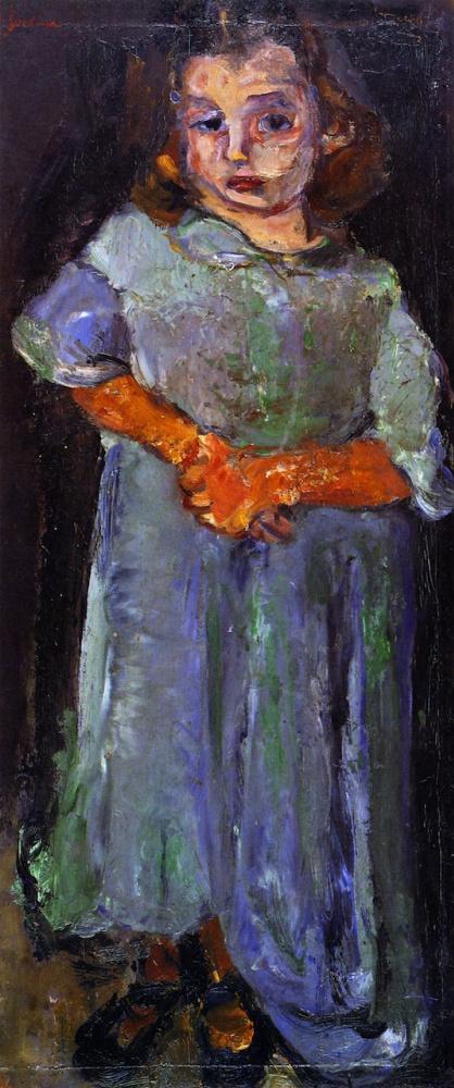 Хаим Соломонович Сутин. Маленькая девочка в синем