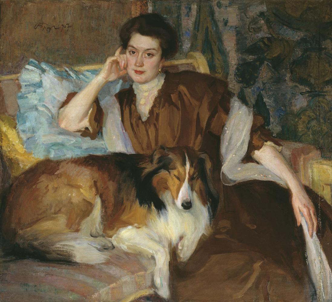 Osip Emmanuilovich (Joseph) Braz. Portrait of a wife. 1907